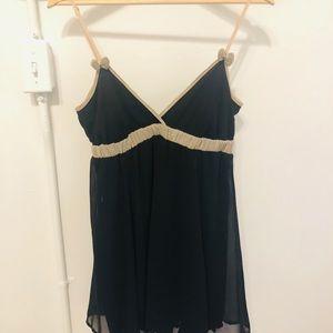 Johnny Martin Long  Top Mini Black Dress size S/M